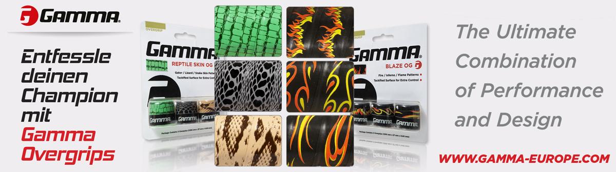 Banner Overgrips Blaze und Reptile